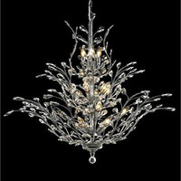 Christelle - Large Hanging Fixture (18 Light Modern Grand Crystal Chandelier) - 6898G41