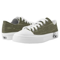 Army Green Tree Bark Low-Top Sneakers