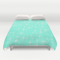 Mint Glitter Duvet Cover by Beautiful Homes