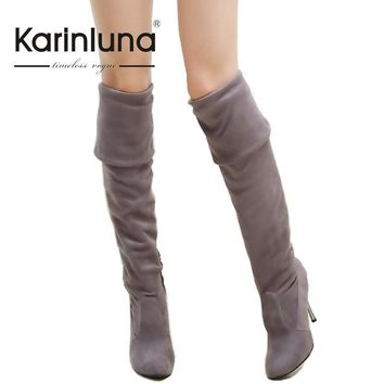 Big Size 34-43 High Heels Women Boots Over the Knee High Boots Party Sexy Lady Fashion