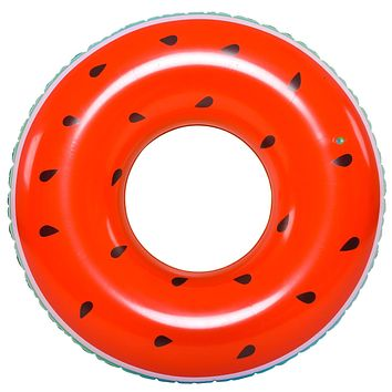 """49"""" Jumbo Inflatable Watermelon Lounger Swimming Pool Float Ring"""