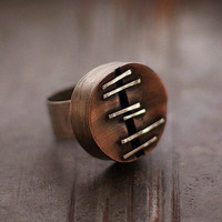 can copper sterling silver adjustable ring