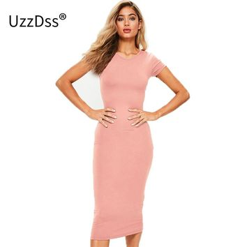 2018 Autumn Bodycon Dress Women Dresses Female Cotton Casual Vestidos Pencil Office Slinky Prom Party Sheath Women's Dress