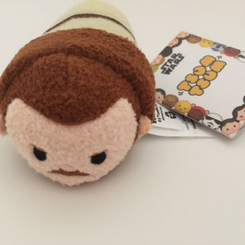 Disney Usa Authentic Star Wars Qui-Gon Jinn Mini Tsum Plush New With Tags
