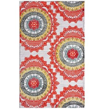 Anthology™ Chindi Dhuri Medallion Rug in Red