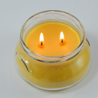 Highly Scented Double Wick Candle in a 8 oz jar great for valentines day