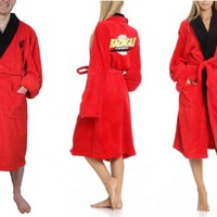 The Big Bang Theory Bazinga Adult Red Hooded Plush Costume Robe