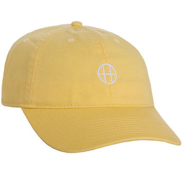 The Circle H Curved Brim 6 Panel in Baby Yellow