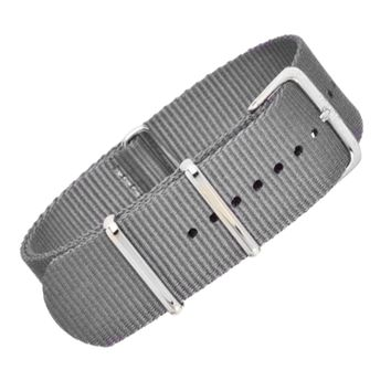 22mm Grey Nylon NATO - Silver Buckle