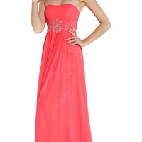 Strapless Goddess Long Prom Bridesmaid Dress
