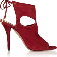 Aquazzura - Sexy Thing cutout suede sandals