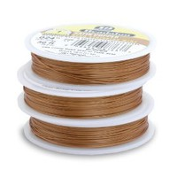 Beadalon 19-Strand Bead Stringing Wire, 0.024-Inch, Satin Copper, 30-Feet $11.69