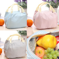 TOP Grand New Portable Thermal Insulated Tote Pouch Cooler Lunch Box Storage Picnic Bag Multi-colors Lunch Box lunch bag free