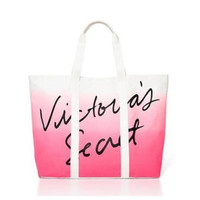 Victoria's Secret Pink & White Striped Tote