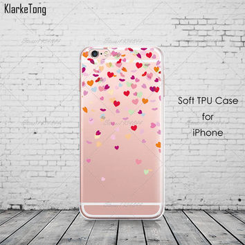 Floating Hearts Phone Case For iPhone 7 7Plus 6 6s Plus 5 5s SE