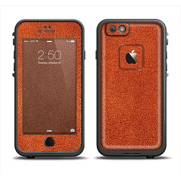 The Deep Orange Texture Apple iPhone 6 LifeProof Fre Case Skin Set