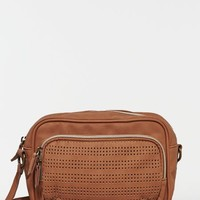 AEO Women's Perforated Crossbody Bag (Tan)