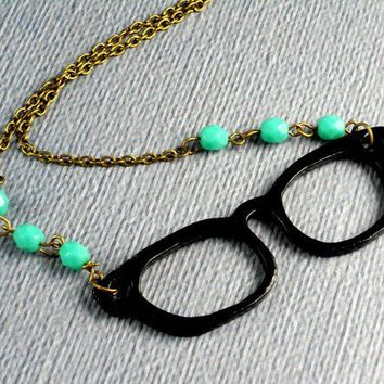 Free Shipping Librarian EyeglassNecklace by ManoCelebrates on Etsy