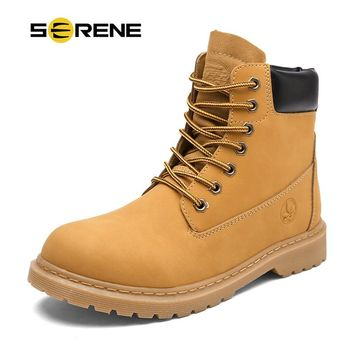 SERENE Mens Winter Snow Motocycle Boots Military Tactical Male Work Safety Desert Shoes Combat Timber Cowboy Army kanye West Bot