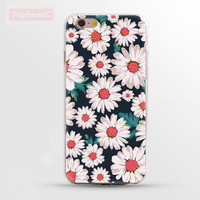 """Ultrathin Soft """" Flowers Daisy """" TPU Case for iPhone 5 5s SE 6 6s 6 Plus Phone Case/Cover"""