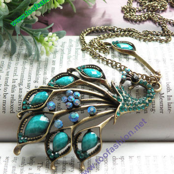 Pretty retro copper blue crystals expanding by toofashion2010