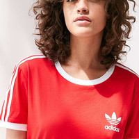 adidas Originals 3-Stripe Ringer Tee - Urban Outfitters
