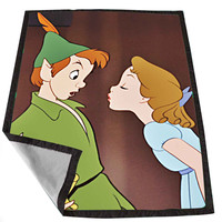 Peter Pan Kiss for Kids Blanket, Fleece Blanket Cute and Awesome Blanket for your bedding, Blanket fleece *02*