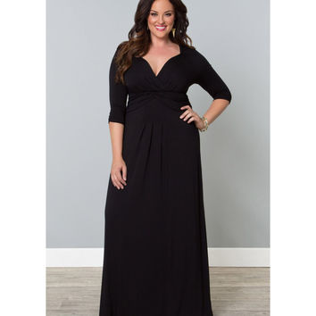Plus Size Black Desert Rain Maxi Dress