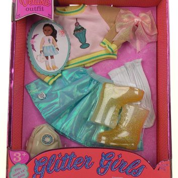 """Glitter Girls Deluxe Outfit Fits Most 14"""" Dolls Sweet Dazzle"""