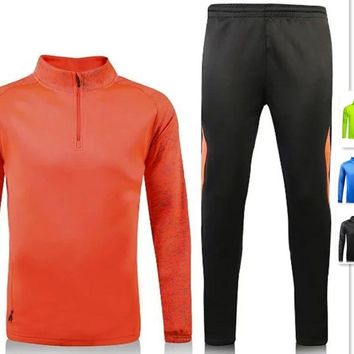Men' trainning sets men zipper blank tracksuits  adult sports suits running uniforms male jackets and pants winter clothing