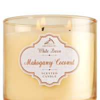 Bath & Body Works White Barn 3-Wick Candle in Mahogany Coconut (14.5oz/411g)