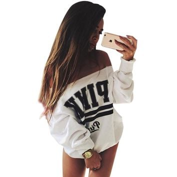 Gagaopt Hoody White PINK Hoodies Women's Tracksuits Svitshot Strapless Hoodies Sweatshirt Women Victoria Secret  Mujer Adventure Time