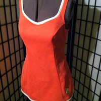 Vintage 1960s Coral Sea Lure by Sears One Piece Pinup Girl Bathing Suit Sz M/L Low Back