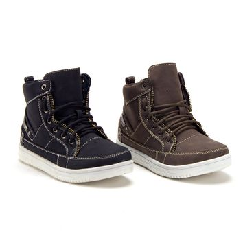 Youth Little Boys High Top Ankle High Chukka Boots Sneakers School Shoes