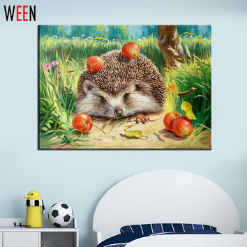 Wall Pictures for Living Room Cuadros Hedgehog Coloring by Numbers Canvas Oil Paintings DIY Digital Oil Painting Art Home Decor
