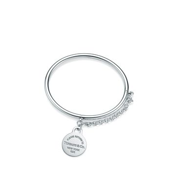 Tiffany & Co. - Return to Tiffany®:Round Tag Bangle with Chain