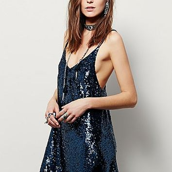 Free People Womens Sparkler Mini Dress