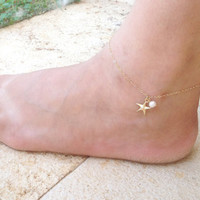 Jewelry Sexy Cute Stylish Shiny Ladies New Arrival Gift Fashion Accessory Sea Pearls Anklet [11156946644]