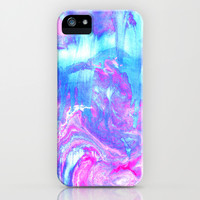 Melting Marble in Pink & Turquoise  iPhone & iPod Case by Tangerine-Tane