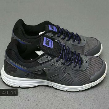 Nike REVOLUTION 2 MSL Women Casual Running Sport Shoes Sneakers Dark grey+Purple G-A0-HXYDXPF