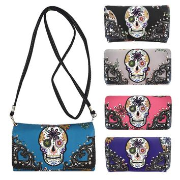 Sugar Skull Wallet Purse ( 5 colors )