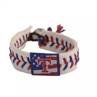 MLB Texas Rangers Stars and Stripes Baseball Bracelet