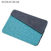 KUDIAN BEAR Minimalist Men Credit Card Holder  Business Card Holder Special Designer Wallets For Men Porte Carte-- BID144 PM20