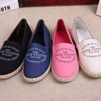 LV Louis Vuitton Slip-On Espadrilles Flats Shoes