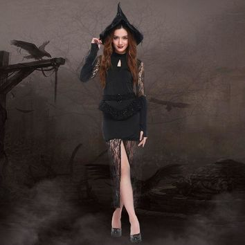 CREYUG3 Witch Cosplay Anime Cosplay Apparel Halloween Costume [9220887940]