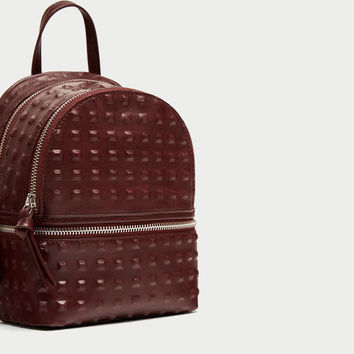 EMBOSSED STUDS MINI BACKPACK DETAILS