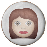 Woman Emoji Chocolate Dipped Oreo