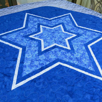 Quilted Table Topper Star of David 633