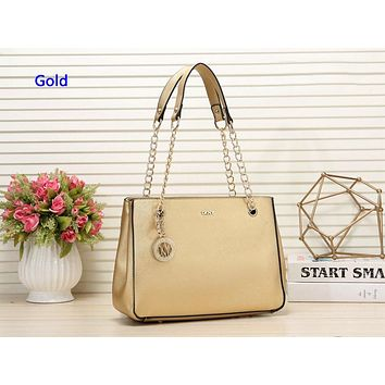 DKNY fashionable solid color lady shopping bag  hot seller with one shoulder bag Gold