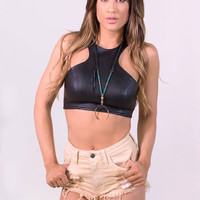 Rehab Leather Vixen Top